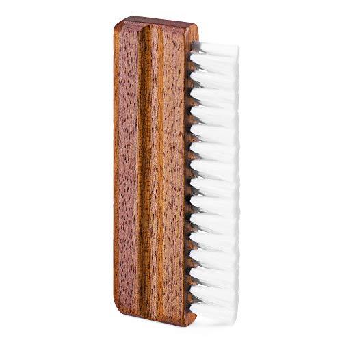 kwmobile Nylon Reinigungsbürste mit Holzgriff für Schallplatten - Schallplattenbürste für Vinyl - LP Plattenbürste - Plattenspieler Bürste