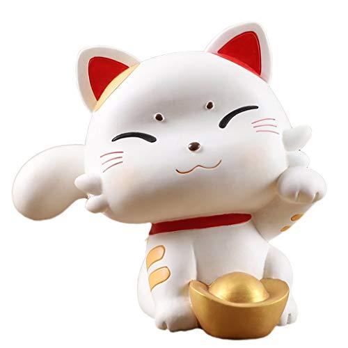 LICHUAN Lucky Cat Decoration Piggy Bank Banco de Dinero de la Moneda de la Moneda Creativa con un Casquillo Abierto Mejor Regalo de cumpleaños para niños Juguete Divertido Regalo