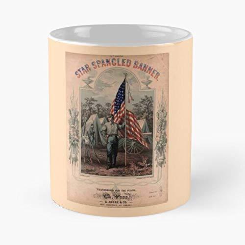 Taza de café con diseño de Star Spangled Civil America Wars Banner American War Mejor Regalo