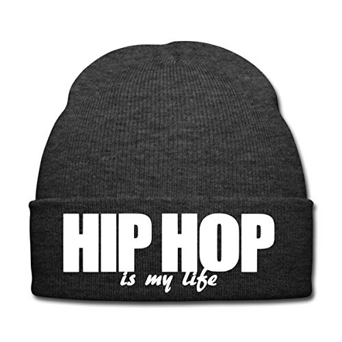 Hip Hop is My Life Bonnet d'hiver, Gris Anthracite