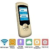 Traductor de lenguaje inteligente WiFi global en línea 41 idiomas sincronización de voz instantánea ...