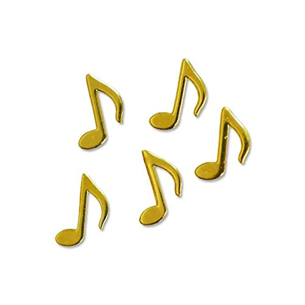 マットレス急速なヒューマニスティック薄型メタルパーツ10025ミュージック 音符 おたまじゃくし4mm×5mm(ゴールド)/20p入り