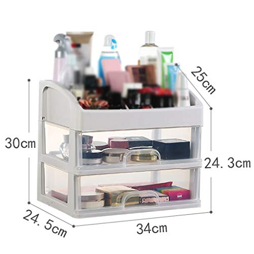 Boîte de rangement cosmétique transparente en plastique Simple à tiroir multicouche Type Rouge à lèvres Bijoux Produits de soin de la peau Boîte de stockage Affichage FANJIANI ( Size : 34*24.5*30cm )
