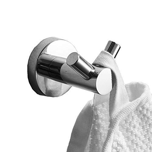 Leekayer Handtuchhaken für Badezimmer, klein, Edelstahl, poliertes Chrom-Finish, Wandmontage, für Toiletten