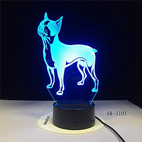 WSJ3D LED-Lampe für Hunde, Bulldogge, Pudel, Jack Russell Terrier, Rottweiler, afghanischer Jagd, Basset, Hound, Dobermann, Labrador Retriever