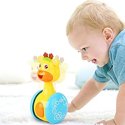 ELEDUCTMON BABY-TOYS Early Education 3 Months + Baby Hip Hop Swing reindeer Children tumbler animal toys for Children & Kids Boys and Girls (tumbler) from ELEDUCTMON