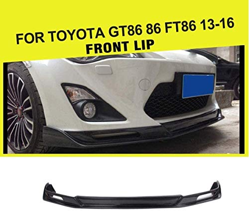 ACYCY Front Stoßstange Lip Spoiler Chin Front Lip Bumper Spoiler Splitter Kinn Protector Fit Für Gt86 86 Ft86 2013-2016,Frp with Hole,Carbon with Hole