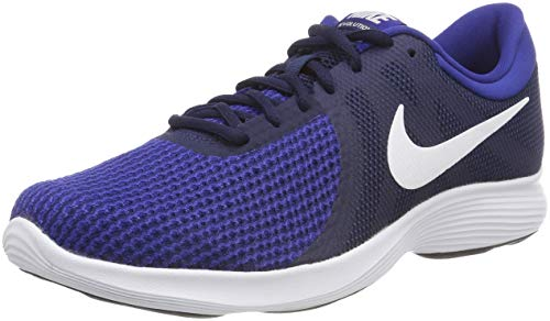 Nike Nike Revolution 4 Eu, Herren Laufschuhe, Blau (Midnight Navy/White/Deep Royal Blue/Black 414), 40.5 EU (6.5 UK)