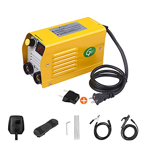 ZIEM Arc Welder 250Amps LCD Máquina de soldadura Mini soldadora eléctrica portátil antiadherente para varillas de 2.5-3.2 mm para soldar trabajos eléctricos con juego de seguridad