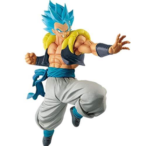 Taxpy Figuras Anime Baratas Figuras de acción de Dragon Super Blue Gogeta Film Goku Vegeta Fusion Toy Modelo Altura Aproximadamente 20CM Adornos Coleccionables Juguete Animaciones Modelo de Personaje