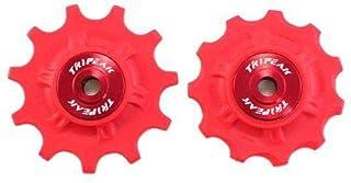 TRiPEAK Super Ceramic 11T Pulley Set for SHIMANO 11 SPEED, Red #EM1011-self