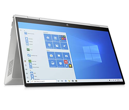 HP - PC Envy X360 15-ed0000nl Notebook Convertibile, Intel Core i5-1035G1, RAM 8 GB, SSD 512 GB, Grafica Intel UHD, Windows 10 Home, Schermo FHD IPS 15.6', Lettore Impronte Digitali, USB-C, Argento