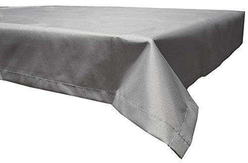 Beo Outdoor tafelkleden waterafstotend, hoekig, 130 x 230 cm, lichtgrijs