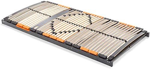 BMM Lattenrost XXL 7-Zonen, geräuschlose Trio HQ-Kappen, Antirutsch-Bolzen, SchulterPLUS Zone (+10mm Einsinktiefe), extrem belastbar bis 180kg, 90x200 cm