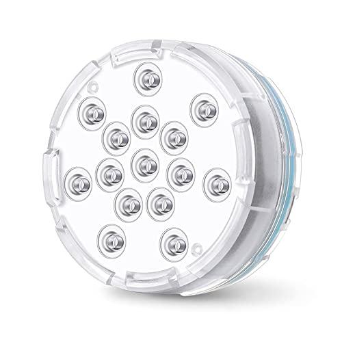 Luces LED sumergibles para piscina, 16 colores bajo el agua luces de estanque con control remoto