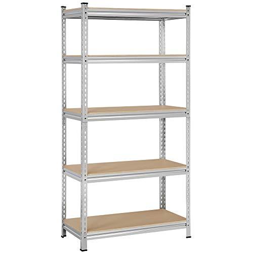 Topeakmart 5-Shelf Adjustable Storage Shelves Heavy Duty Garage Shelving Units and Storage 36 W x 18 D x 73 H