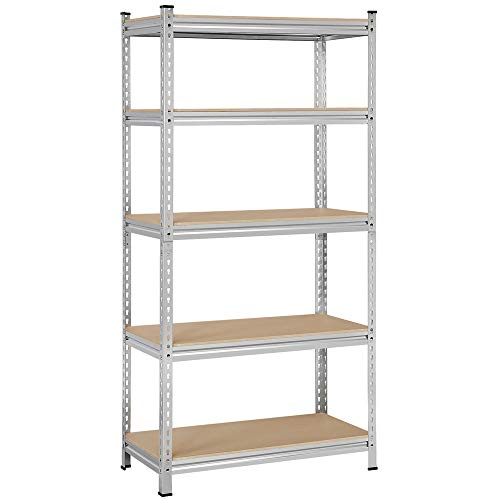 Topeakmart 5-Shelf Adjustable Storage Shelves Heavy Duty, Garage Shelving Units and Storage, 35.4