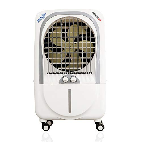 Simron Fighter 21 ltrs Powerful Air Flow Air Cooler with Speed Regulator Controller and Three Side Honeycomb Pad.