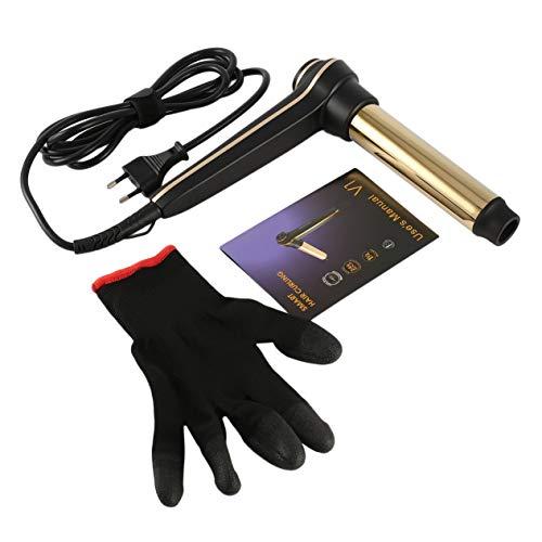 Goldyqin Courbe de cheveux automatique intelligente avec chaleur uniforme Courbes de longue durée plaquées or 24 carats et affichage de la température de précision numérique