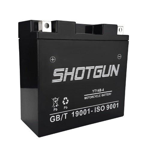 Shotgun 14B-BS 12V 12Ah Battery for Hyosung GV650 GT250 Yamaha V Star Roadliner Stratoliner