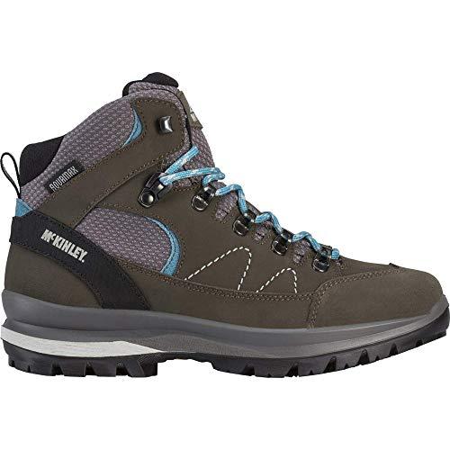 McKINLEY Bottes de randonnée Kibo Mid AQX, Climbing Shoe Femme, Olive Dark/Blue Pet, 38 EU