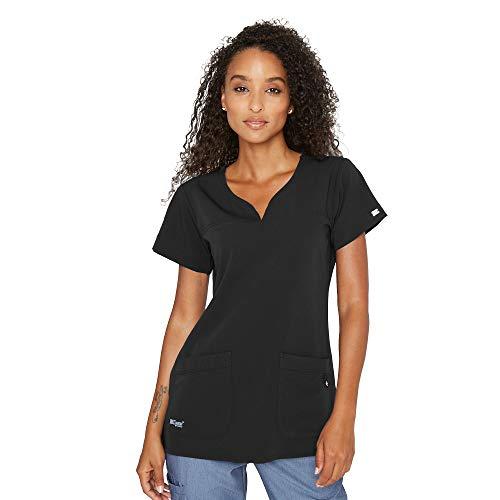 Grey's Anatomy Signature Women's 2121 Two Pocket Notch Yoke Neck Scrub Top