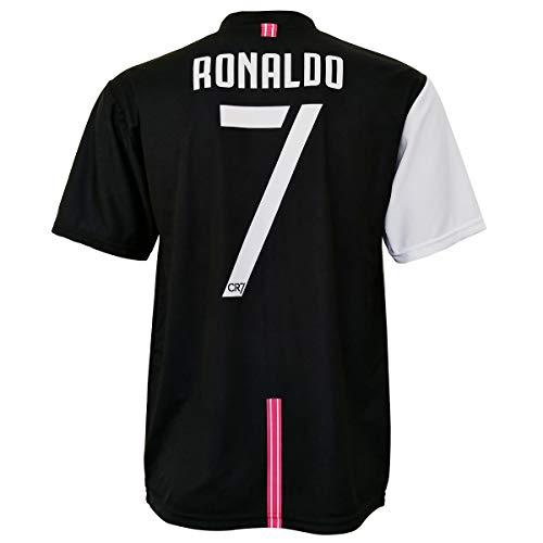 La camiseta no es un producto de la marca ADIDAS y JUVENTUS pero es una CAMISETA OFICIAL AUTORIZADA de la marca CR7 Museu La camiseta presenta la exclusiva firma impresa del campeón portugués Cristiano Ronaldo CR7 El tejido es 100% poliéster, ligeram...