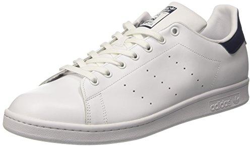 adidas Stan Smith', Sneaker Uomo, Bianco/Running White/Running White/New Navy, 45 1/3 EU