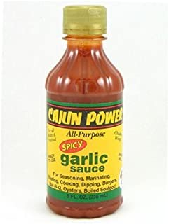 Cajun Power Spicy Garlic All Purpose Sauce 8oz (Pack of 3)