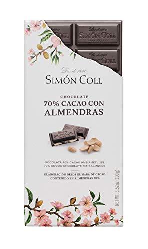 Chocolates Simón Coll Chocolate 100G. 70% Almendra Sc 12 Unidades 1200 g