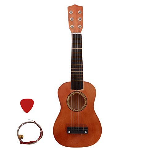 """21"""" Beginner Classical Acoustic Guitar Introductory Guitar with Picks, Extra String,Best Gift for Children,Beginner (Coffee)"""