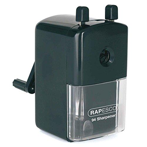 Rapesco R94000B2 R94 Bleistiftspitzmaschine ( geeignet für 8mm-11.75mm Stifte,) Schwarz