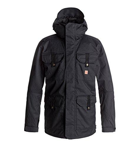 DC Men's Servo 15k Water Proof Snowboard Jacket, Black, XL