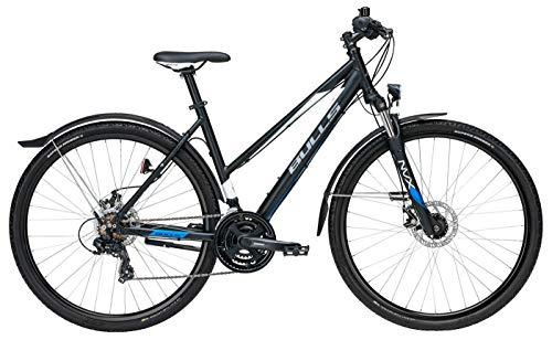 Damen Fahrrad 28 Zoll - Bulls Wildcross Street - Shimano 21-Gang Kettenschaltung, Suntour Federgabel, Nabendynamo, schwarz matt