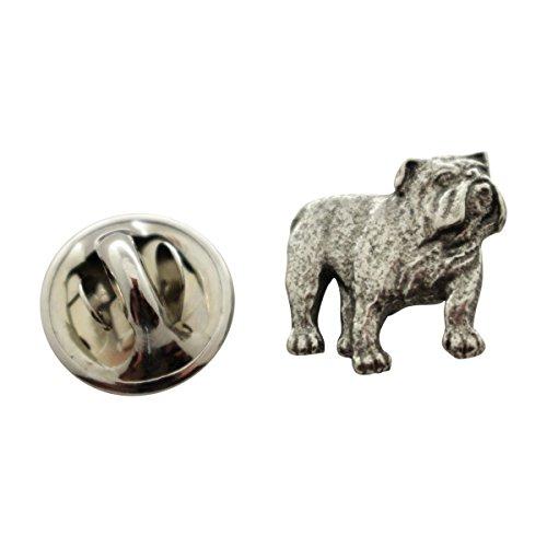 Sarah's Treats & Treasures Bulldog Mini Pin ~ Antiqued Pewter ~ Miniature Lapel Pin