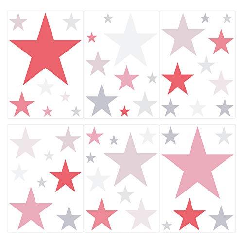Sticker Mural Autocollants de décoration étoiles Fille Couleurs en Pastel Ciel