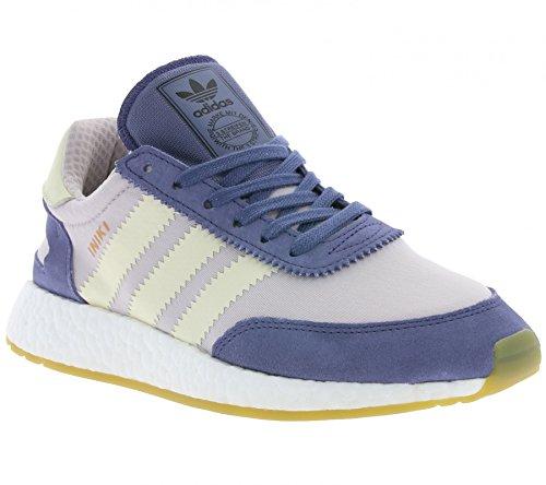 adidas Women Iniki Runner BA9995 Trainers - Cream White/Ice Purple, Size UK 5