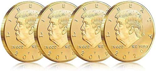 4 Years Set Donald Trump Gold Coin 2017 2018 2019 2020 Collection Patriots Gifts 24kt Gold Plated product image