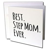 ステップInspirationzStoreタイポグラフィ–Best Mom Ever–Gifts for Family and Relatives–グッドナイト・ムーン–継母–Good For母の日–グリーティングカード Individual Greeting Card