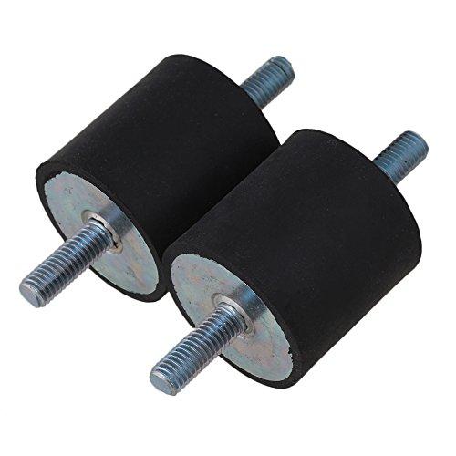 2 Stücke M8 Gummi Doppel Enden Schraube Silent Block Blockierung der Stoßdämpfung und Geräuschminderung Für Wasserpumpe 40mm Durchmesser