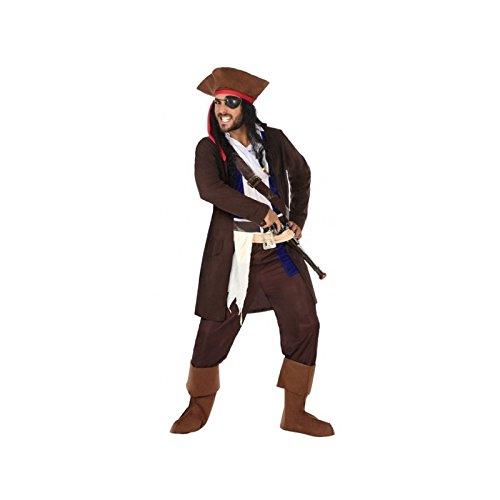 Atosa-96818 Disfraz Pirata, color marrón, M-L (96818)