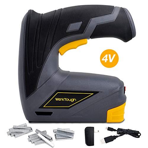 Werktough CSG01 Cordless Staple Gun DIY Electric Stapler Tacker Rechargeable USB Charger