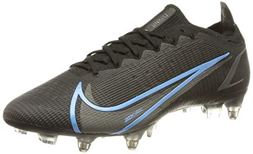 Nike Vapor 14 Elite SG-Pro AC, Zapatillas de ftbol Unisex Adulto, Black Black Iron Grey Univ Blue, 43 EU