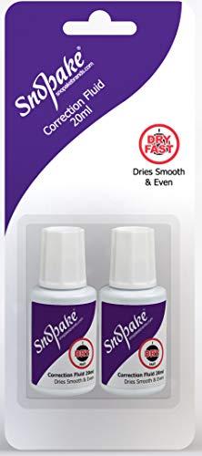 Snopake Hi-Tech Correction Fluid - 20ml Bottle [Pack of 2] Ref: 15836
