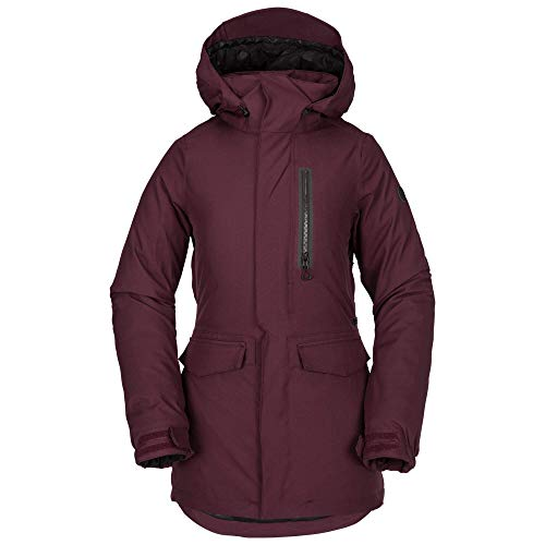Volcom Damen Shelter 3D Stretch Snow Jacket Isolierte Jacke, Merlot, Large