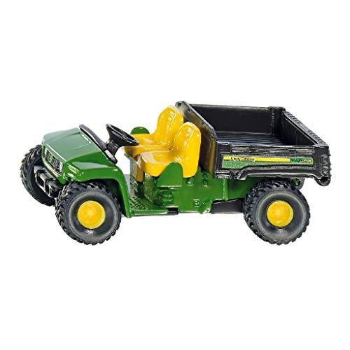 Siku 1481, John Deere Gator, Metall/Kunststoff, grün, Kippbare Pritsche, Spielzeugfahrzeug für Kinder