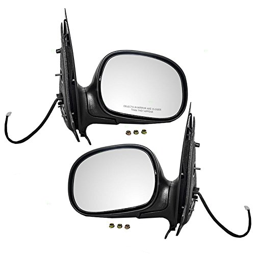 Pair Set Power Side View Mirrors w/Adapters Replacement for Ford F150 Pickup Truck Expedition Lincoln Navigator F85Z17683GAB F85Z17682GAA AutoAndArt