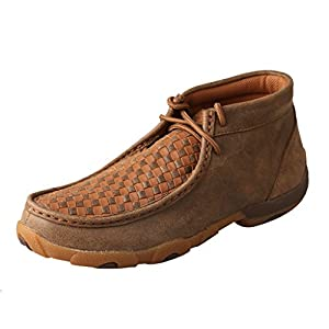 Twisted X Women's Chukka Leather Driving Moccasins, Bomber/Tan, 8.5 Medium