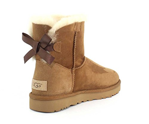 UGG Womens Mini Bailey Bow II Chestnut Boot - 8