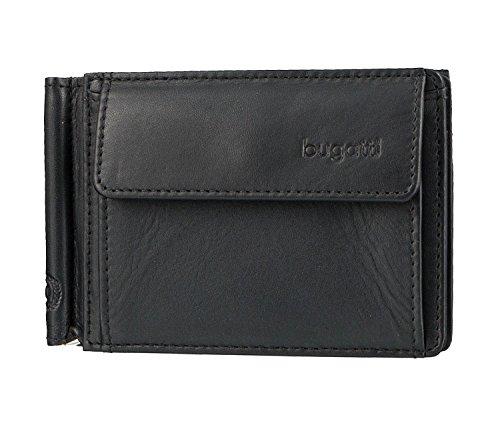 Bugatti Geldbörse Primo mit Fach für Karte, 10cm, schwarz